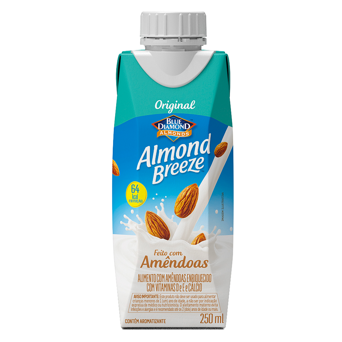 Bebida à Base de Amêndoa Original Blue Diamond Almond Breeze Caixa 250ml