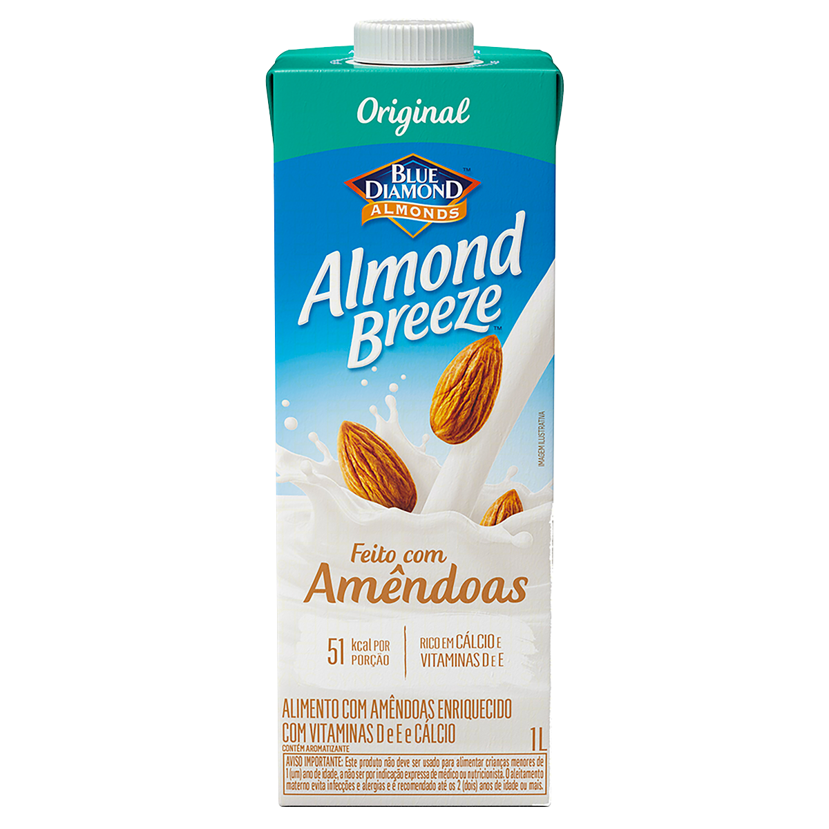 Bebida à Base de Amêndoa Original Blue Diamond Almond Breeze Caixa 1l