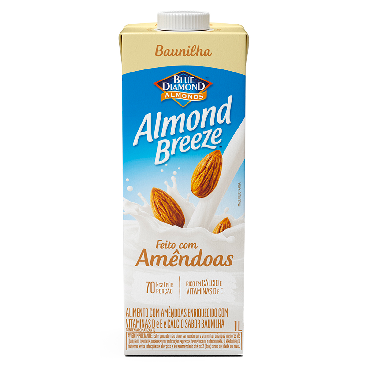 Bebida à Base de Amêndoa Baunilha Blue Diamond Almond Breeze Caixa 1l