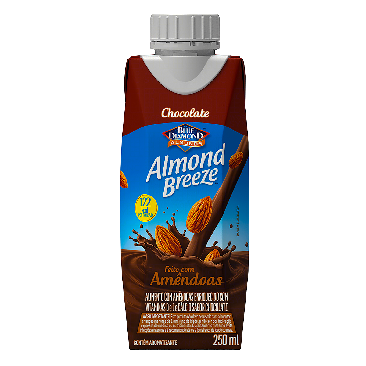 Bebida à Base de Amêndoa Chocolate Blue Diamond Almond Breeze Caixa 250ml