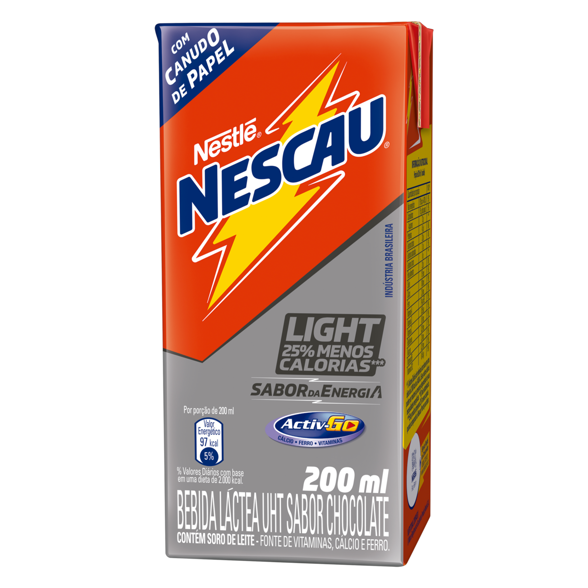 Bebida Láctea UHT Chocolate Light Nestlé Nescau Caixa 200ml