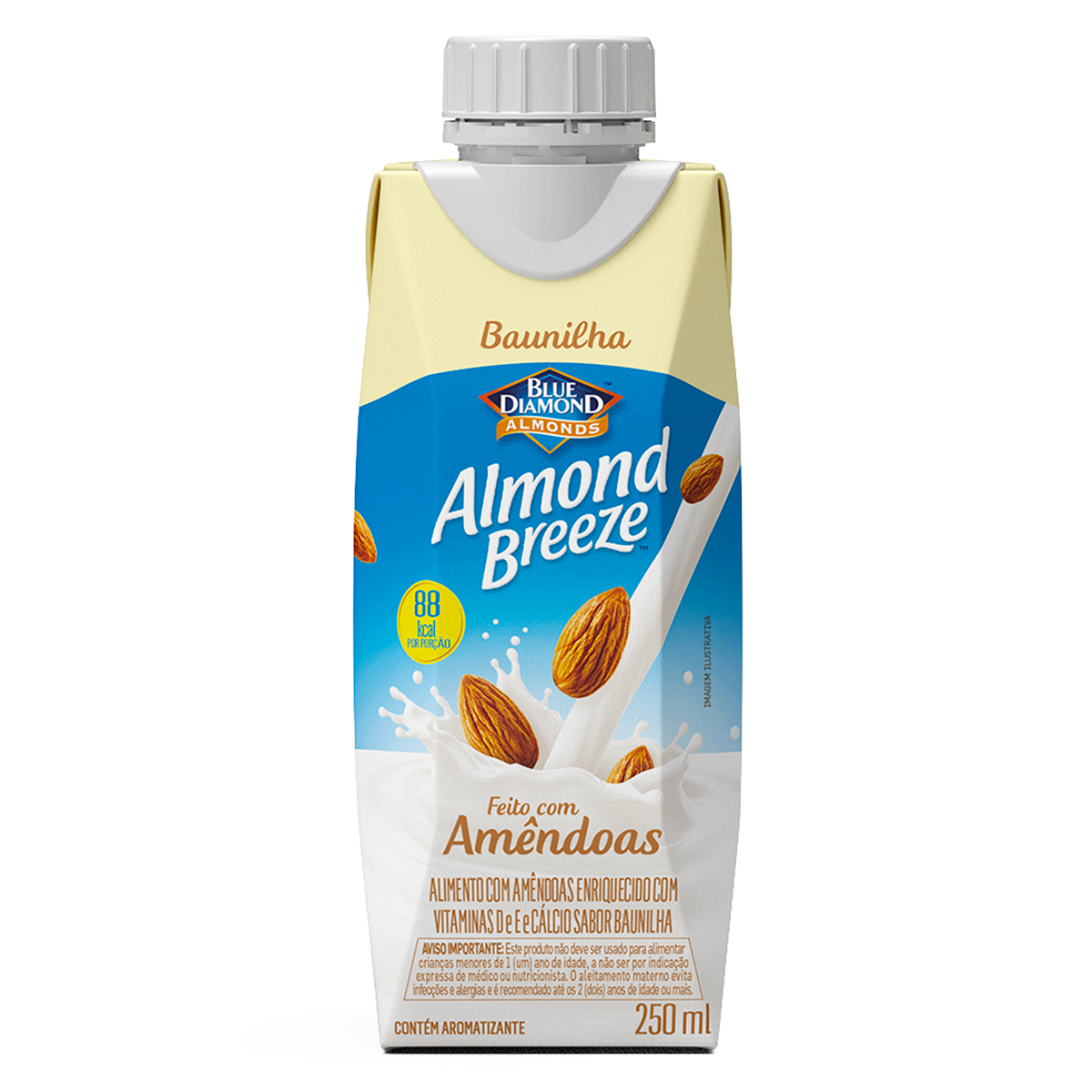 Bebida à Base de Amêndoa Baunilha Blue Diamond Almond Breeze Caixa 250ml